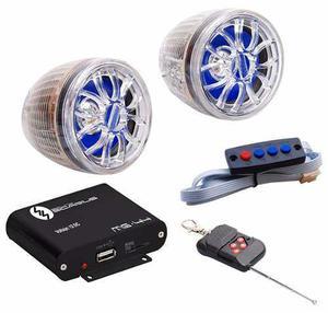 Audio alarma para moto sicarius mg44 negro modulo amplificad