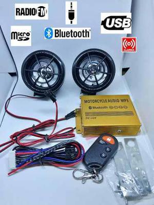 Bocinas y amplificador bluetooth moto alarma usb fm audio