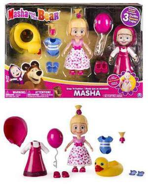 Fig masha y el oso moda que acomoda 2 vestidos spin master