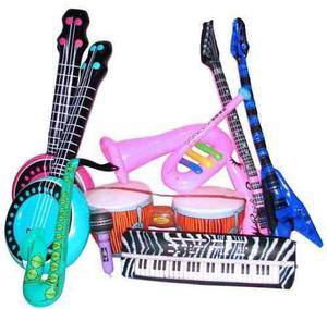 Instrumentos musicales inflables globos fiesta juguete