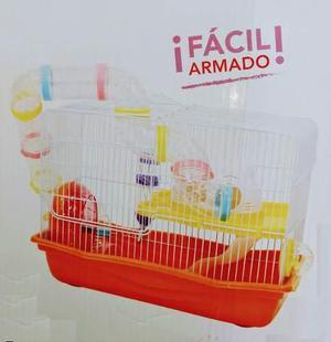 Jaula para hamster fresno 3 todos los accesorios 45x30x32cm