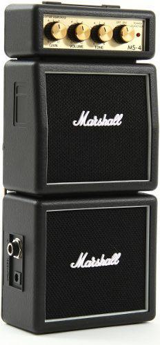 Micro amplificador marshall ms4 cabezal con doble gabinete