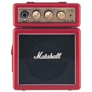 Mini amplificador de guitarra marshall ms-2 rojo!!