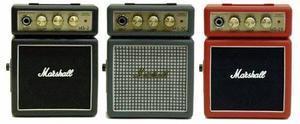 Miniamplificador guitarra marshall ms2 disponible negro/rojo