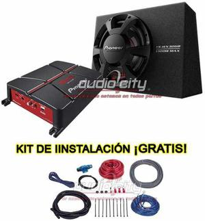 Subwoofer pioneer ts-wx306b + cajon + amplificador gm-a3702