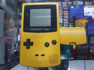 Gameboy color amarillo con tapa de pila (envio gratis)