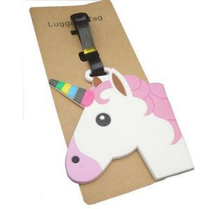 Identificador unicornio retro regalo viajes maleta mochila