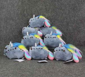 Llavero de peluche gato unicornio facebook buena calidad