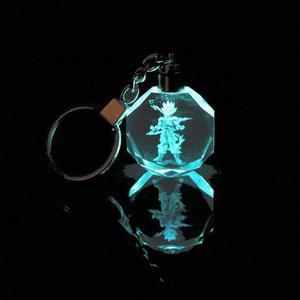 Llavero dragón ball z súper goku fase 2 luz led envío