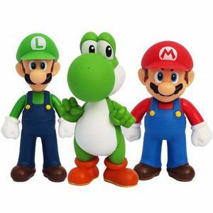 Lote 3 muñecos mario bros yoshi luigui barato envio gratis