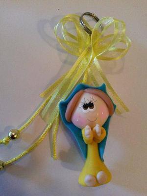 Recuerdos virgen de guadalupe llaveros pasta flexible