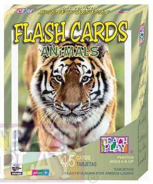 27034 flash cards animales inglés 50 tarjetas de teach play