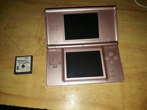 Nintendo ds lite rosa + 3 juegos