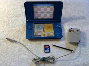 Nintendo ds xl azul impecable con 100 juegos (envío gratis)