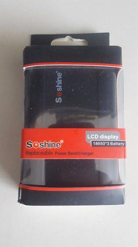 Power bank y cargador baterias 18650 lcd 3 vias 10800mah