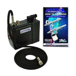 Aerografo kit profesional mini compresor master portatil