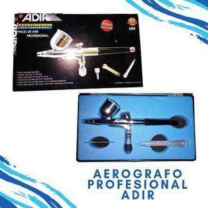 Aerografo/pincel de aire profesional adir con accesorios