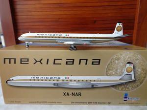Avion dh-106 comet 4c xa-nar de mexicana en la escala 1:200