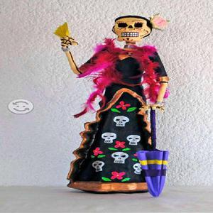 Catrina figura de cartoneria mexicana 567f013097d