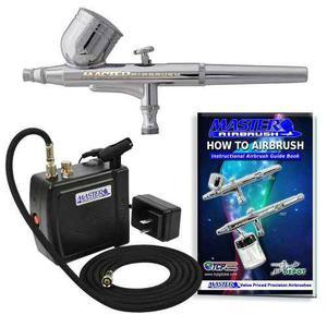 Kit aerografo profesional mini compresor master portatil lbf
