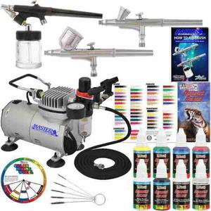 Master airbrush professional 3 airbrush system with compres