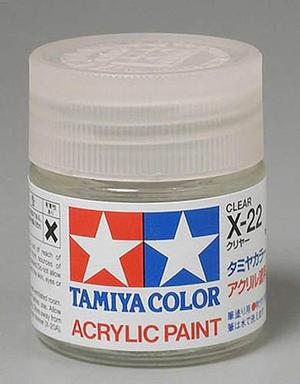 Barniz brillante transparente tamiya x-22 clear 23ml 81022