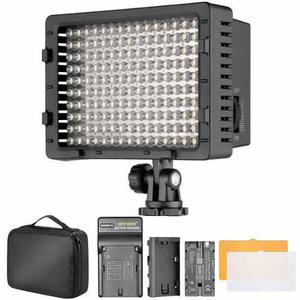 Lampara 160 led para vídeo o fotografia / kit accesorios