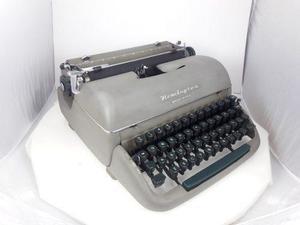 Maquina escribir antigua, remington gris, coleccion vintage
