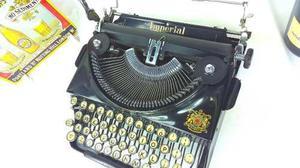 Máquina escribir antigua inglesa imperial colección