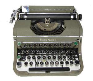 Máquina escribir antigua underwod portatil colección