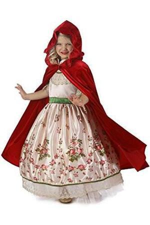 Princess paradise traje de capucha de montar a caballo rojo,