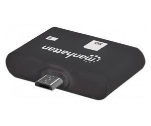 Adaptador lector micro usb otg sd 24 en 1 manhattan 406208