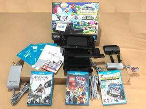 Consola wi u 32 gb set delux + 3 juegos
