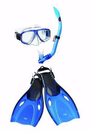 Kit de snorkel visor y aletas p/ adulto. speedo