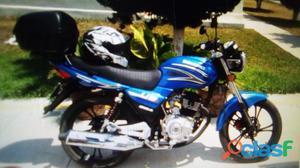 Vendo motocicleta dinamo 2017 color azul