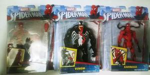 Marvel spiderman, venom & carnage 3pzs set envio gratis!!!