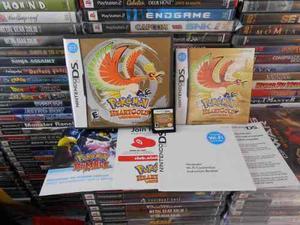 Pokemon heart gold ds con caja,manual,10 stylus nuevos y mas