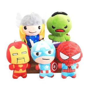 Set peluches avengers ironman hulk spiderman thor capitan