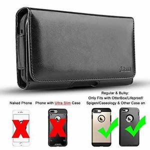 Funda cartera j&d c/clip p/cinto pu p/iphone 8 plus/7 plus