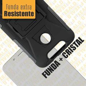 Funda protector uso rudo clip + cristal zte v8 lite / v8 se