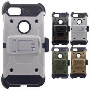 Funda protector uso rudo clip tipo metal iphone 6 7 8