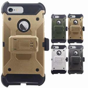 Funda protector uso rudo clip tipo metal iphone 6 plus