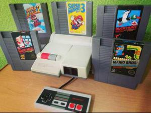 Nintendo nes top loader consola videojuego mario