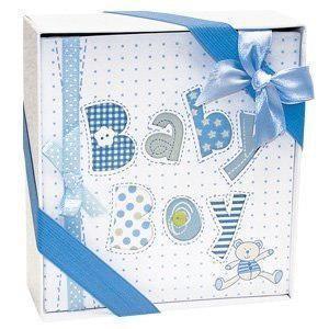 Blanco y azul de la foto del bebé álbum de fotos-4x6