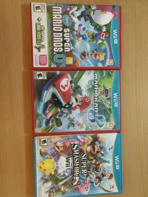 Lote Juegos Wii U Mario Kart Smash Mario Bros U Con Luigi U En