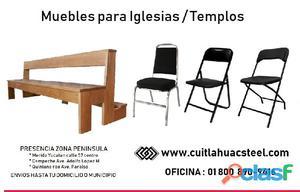 Venta sillas y bancos para iglesias   templos merida yucatan