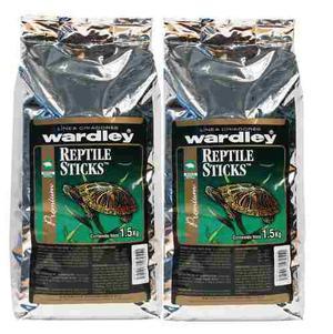 Alimento tortugas reptile sticks caja de 2 piezas