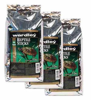 Alimento tortugas reptile sticks caja de 3piezas c/ envió