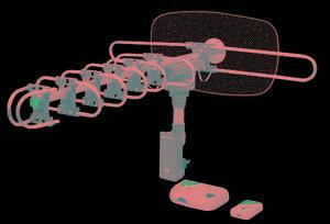 Antena aérea giratoria 360- voltech a48114 envio gratis