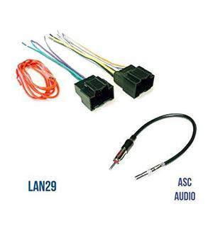 Asc audio car radio estereofítica wire harness plug y anten